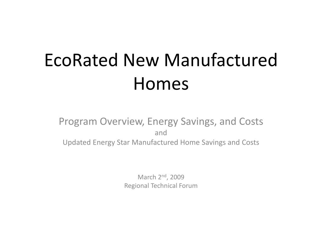 ecorated new manufactured homes l.