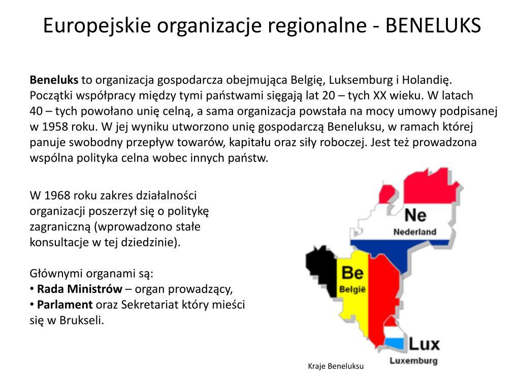 Europejskie organizacje regionalne - BENELUKS