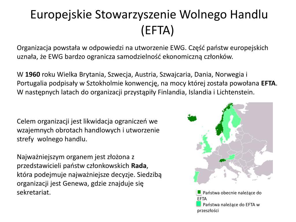 Europejskie Stowarzyszenie Wolnego Handlu (EFTA)