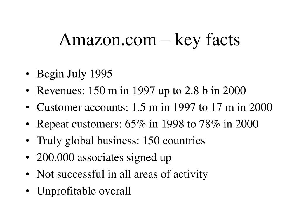 Amazon.com – key facts