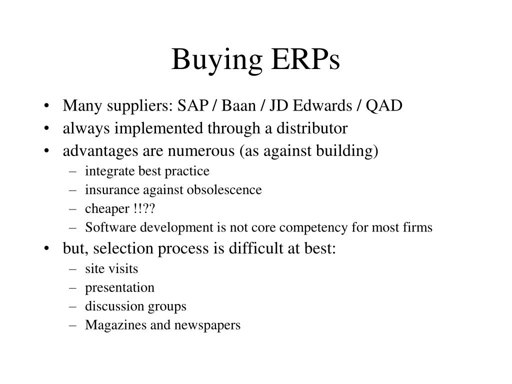 Buying ERPs