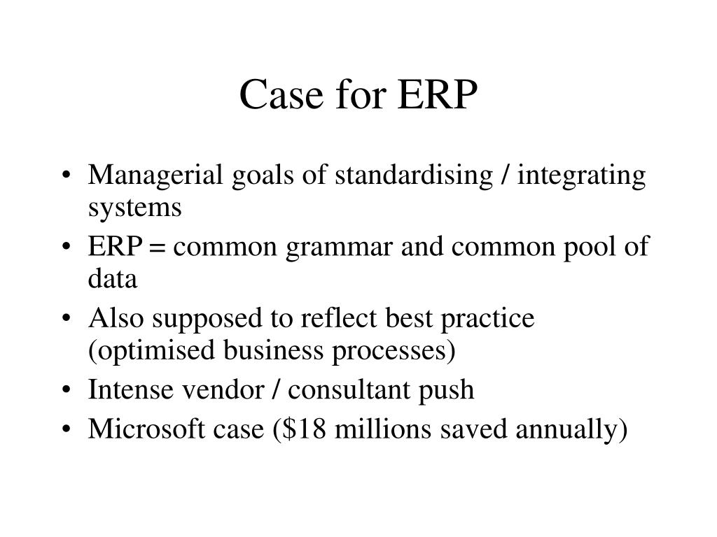 Case for ERP