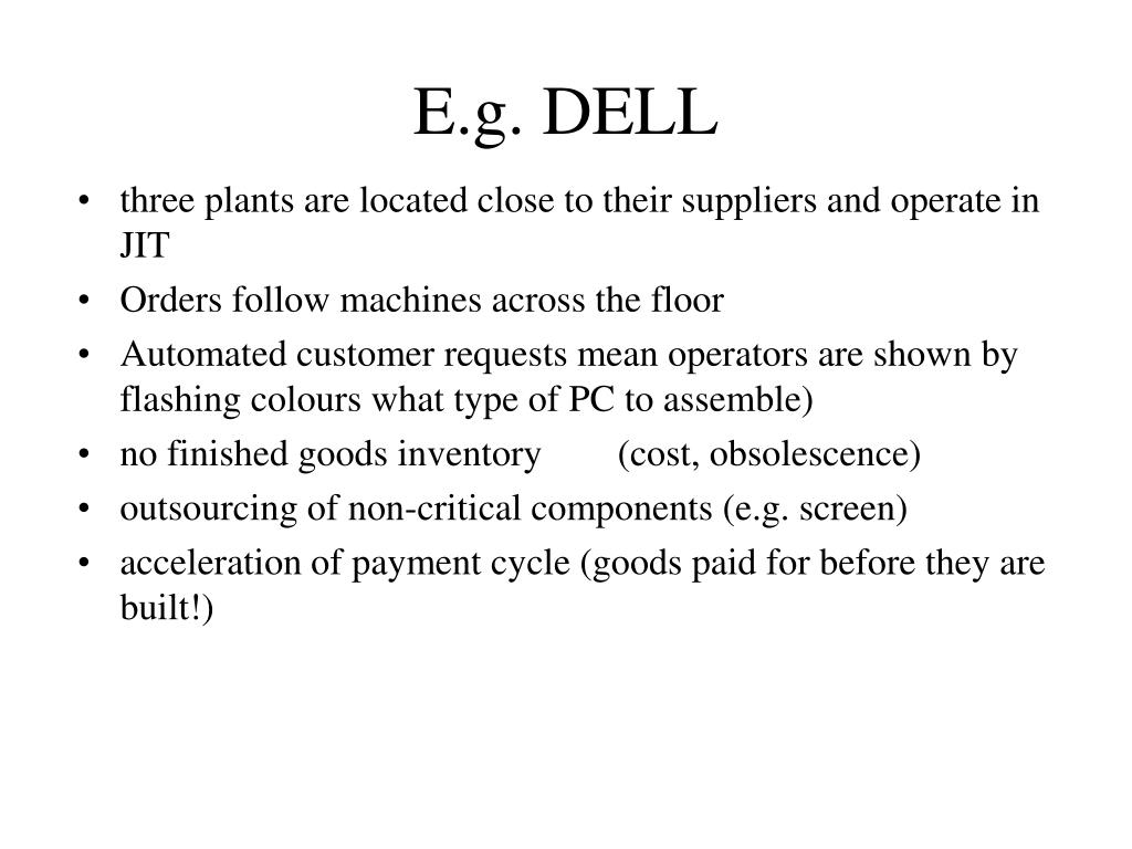 E.g. DELL