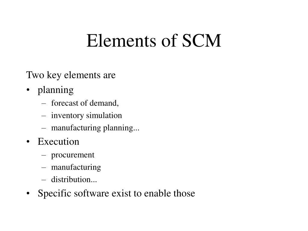 Elements of SCM