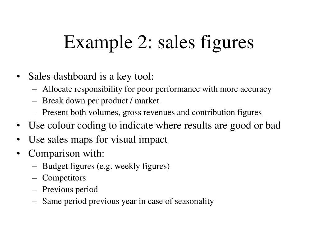 Example 2: sales figures