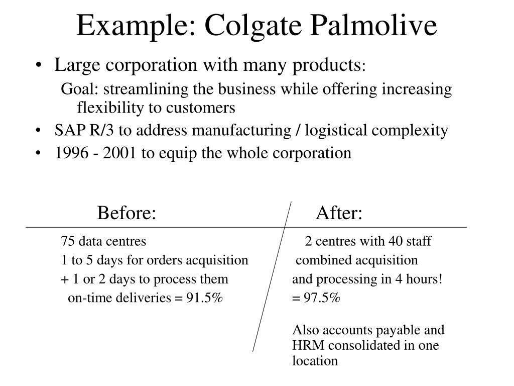 Example: Colgate Palmolive
