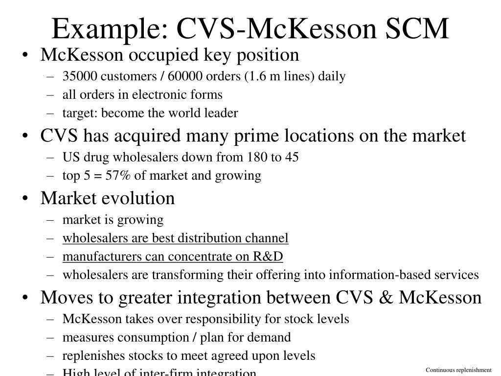 Example: CVS-McKesson SCM