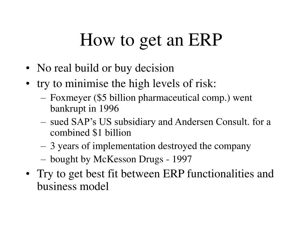 How to get an ERP