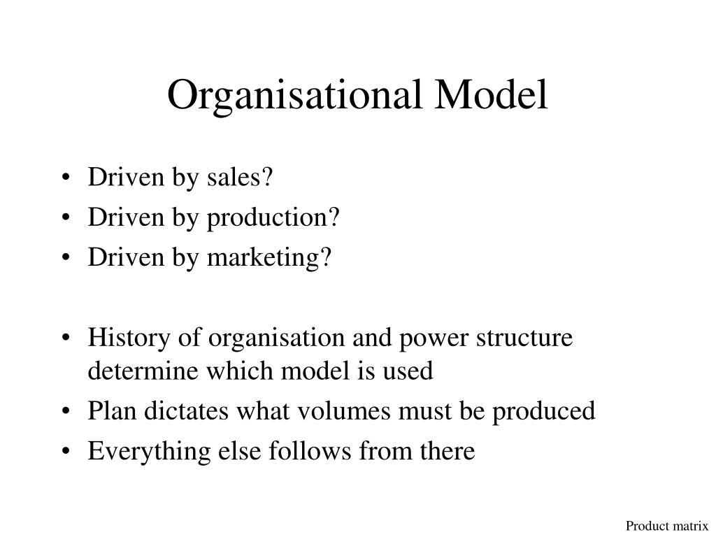 Organisational Model