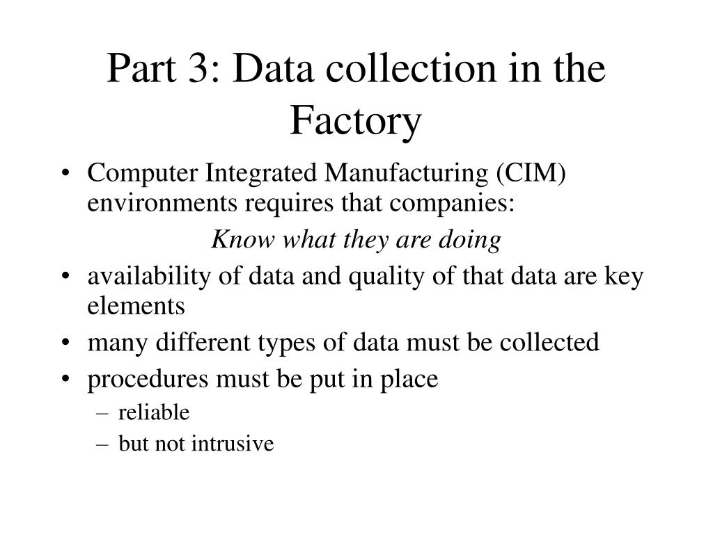 Part 3: Data collection in the Factory
