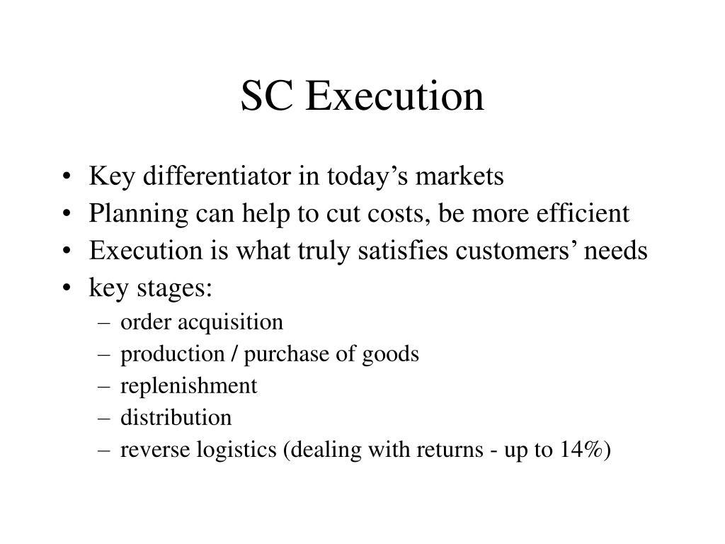 SC Execution