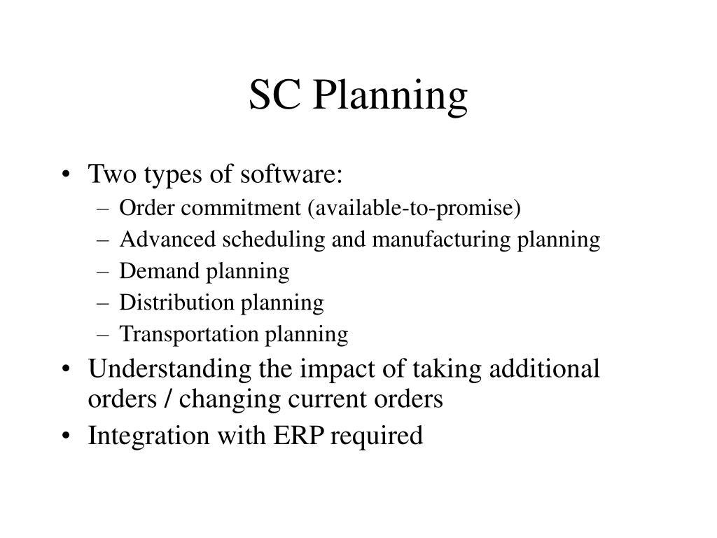 SC Planning