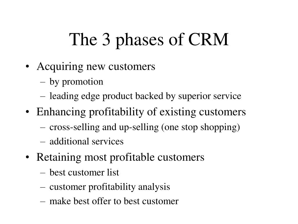 The 3 phases of CRM
