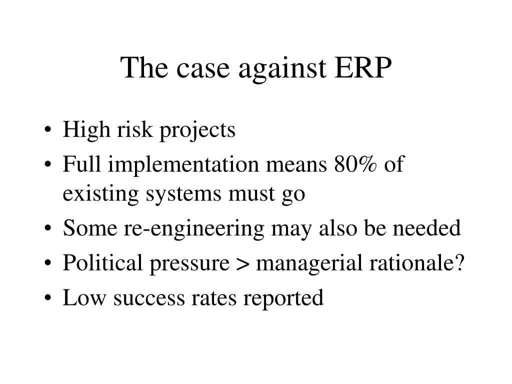 The case against ERP