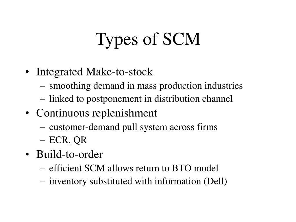 Types of SCM