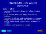 environmental water demands