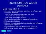 environmental water demands27
