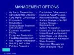management options