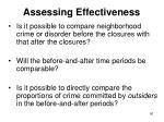 assessing effectiveness