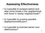 assessing effectiveness51