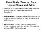 case study taverns bars liquor stores and crime