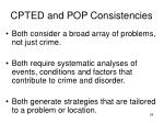 cpted and pop consistencies