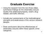 graduate exercise