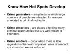 know how hot spots develop