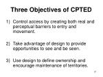 three objectives of cpted