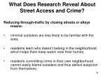 what does research reveal about street access and crime39