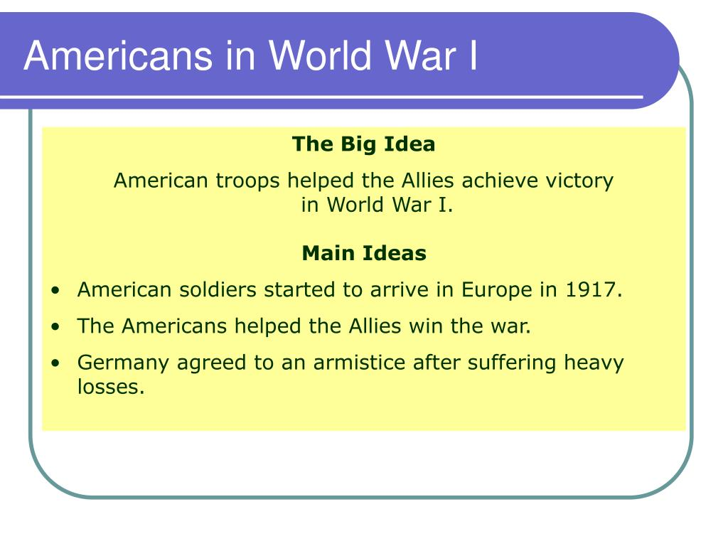 Americans in World War I