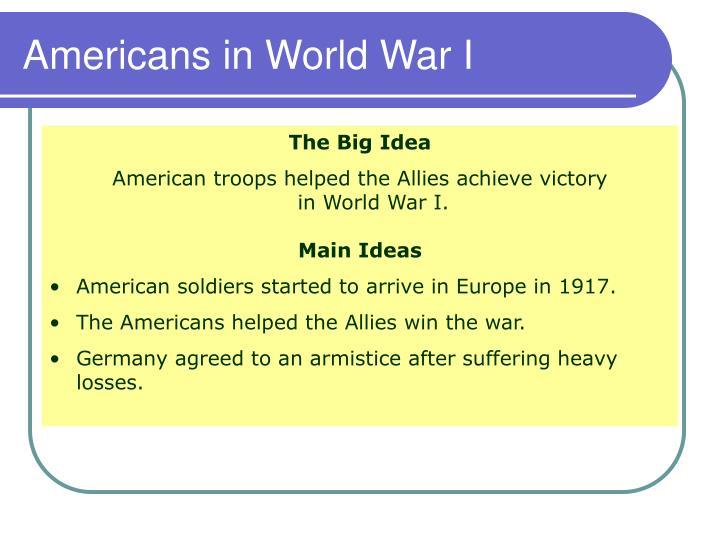 Americans in world war i