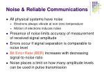 noise reliable communications