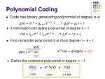polynomial coding