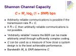 shannon channel capacity