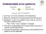 undetectable error patterns