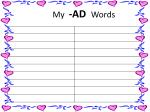 my ad words