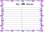 my in words