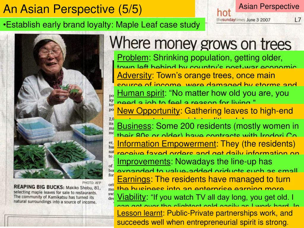 An Asian Perspective (5/5)