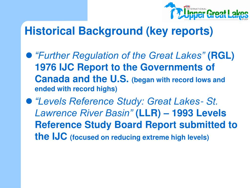 Historical Background (key reports)
