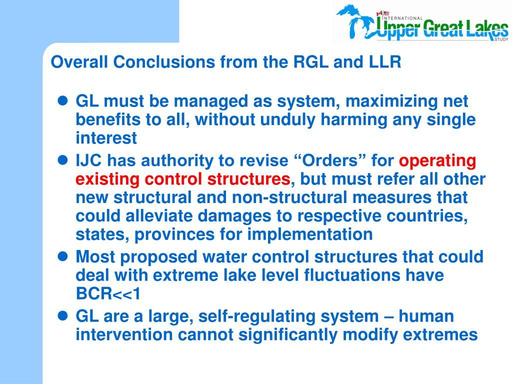 Overall Conclusions from the RGL and LLR