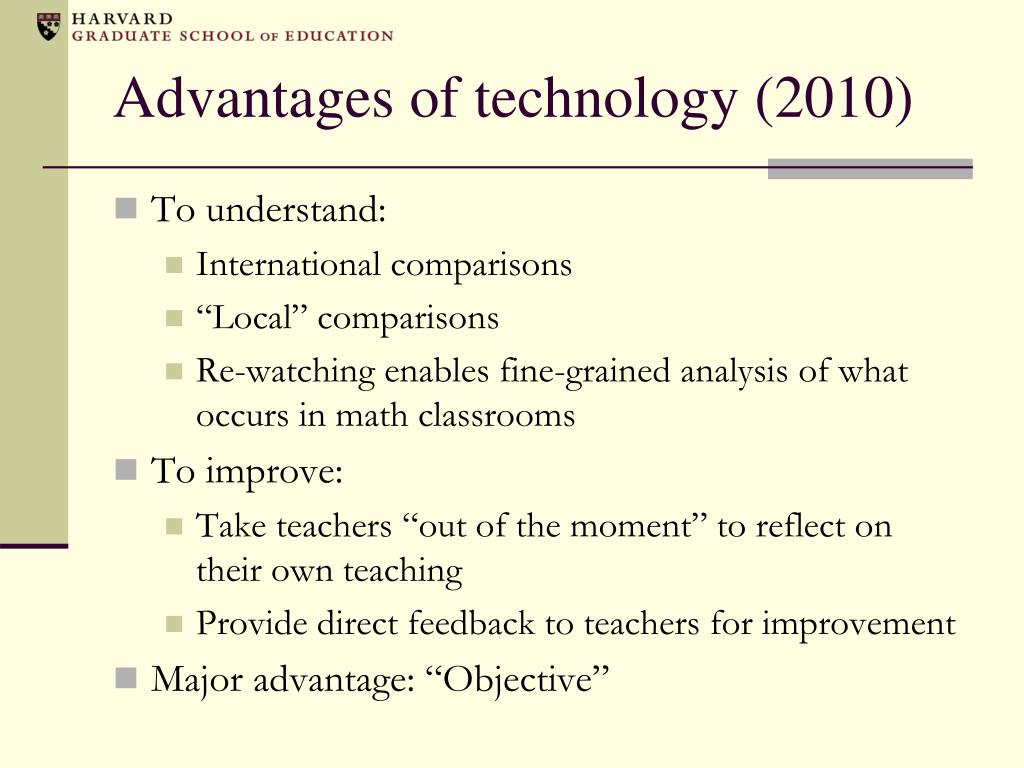Advantages of technology (2010)