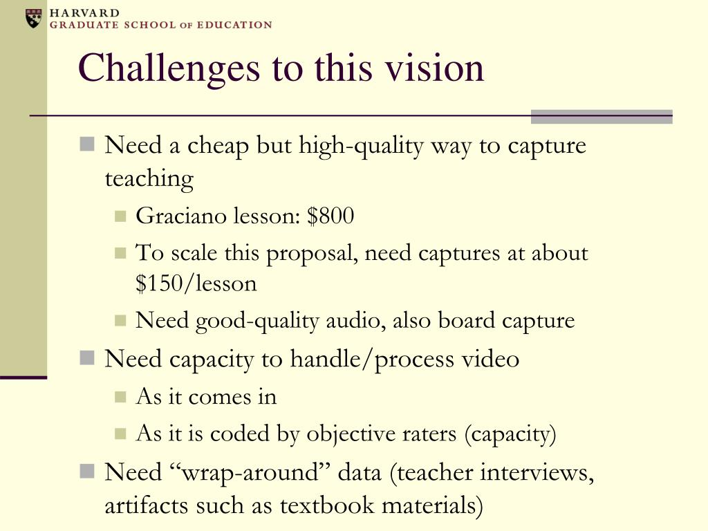 Challenges to this vision