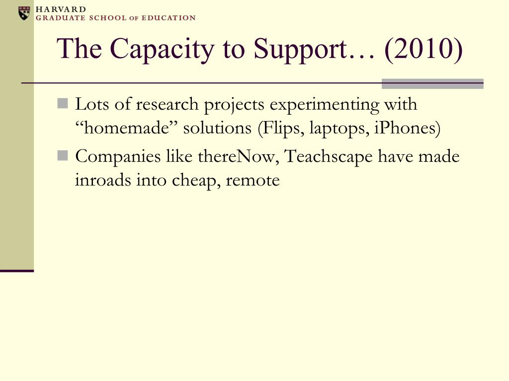 The Capacity to Support… (2010)