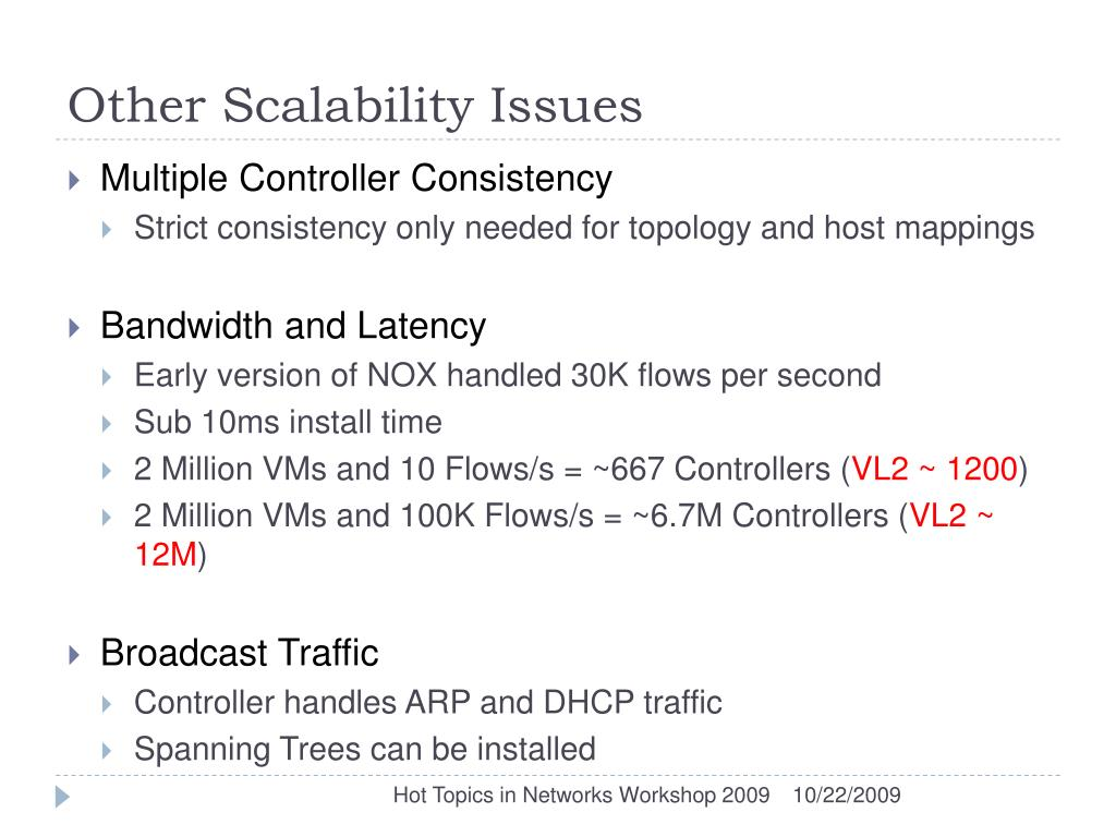 Other Scalability Issues