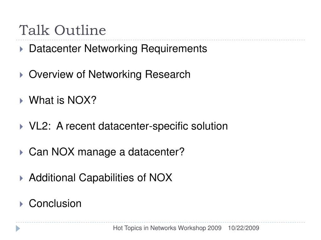 PPT - Applying NOX to the Datacenter PowerPoint Presentation