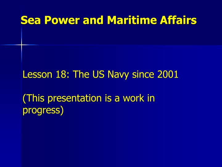 sea power and maritime affairs n.