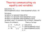 theories communicating via equality and variables