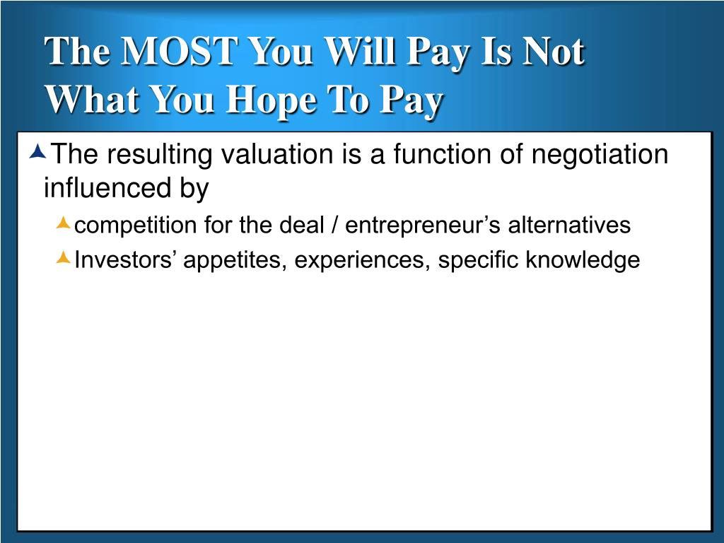 The MOST You Will Pay Is Not What You Hope To Pay