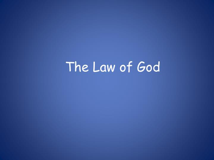 the law of god n.